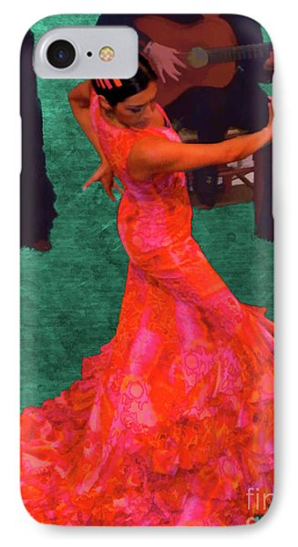 Flamenco IPhone Case by Nigel Fletcher-Jones
