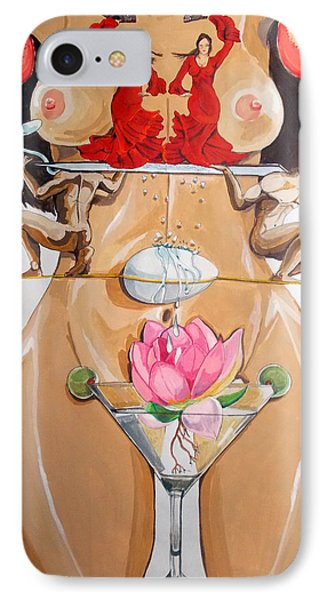 IPhone Case featuring the painting Flamenco Of Fertility  by Lazaro Hurtado