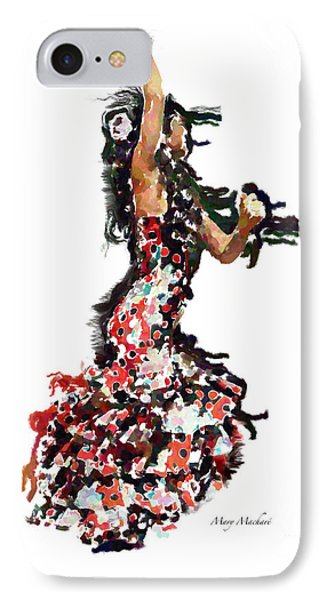 Flamenco Series #12 Phone Case by Mary Machare