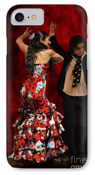 Flamenco Series #9 Phone Case by Mary Machare