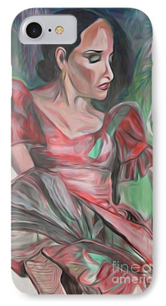 Flamenco Solo IPhone Case by Ecinja Art Works