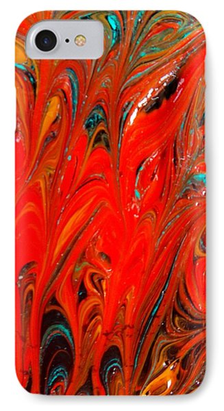 IPhone Case featuring the painting Flames by Carolyn Repka