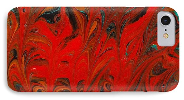 IPhone Case featuring the painting Flames II by Carolyn Repka