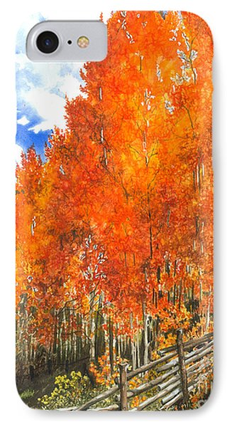 Flaming Aspens Phone Case by Barbara Jewell