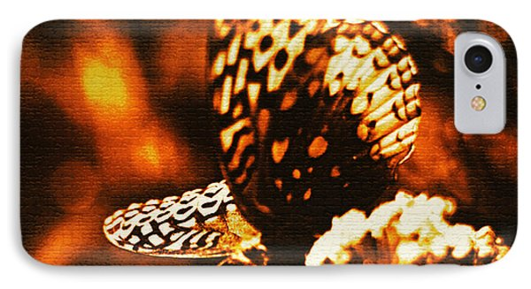 Flaming Butterfly Of Distinction IPhone Case by Carol F Austin