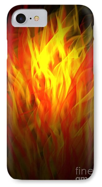IPhone Case featuring the digital art Flaming Fire by Gayle Price Thomas