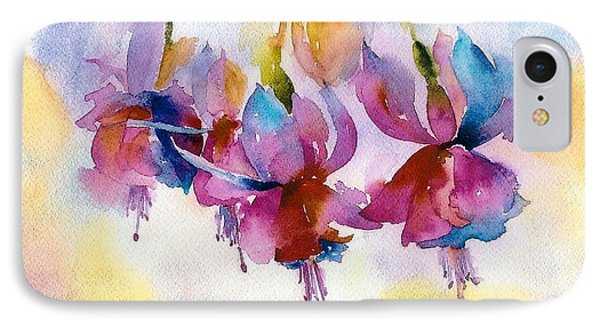 Flaming Fuchsias Phone Case by Pat Yager
