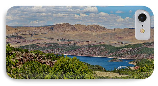 IPhone Case featuring the photograph Flaming Gorge by Janice Rae Pariza