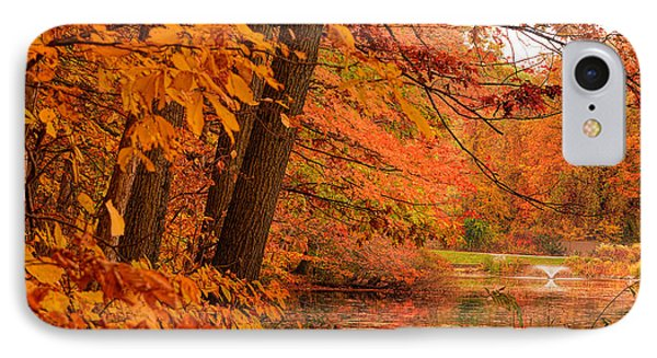 Flaming Leaves IPhone Case by Lourry Legarde