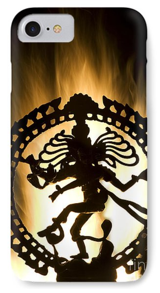 Flaming Natarja Phone Case by Tim Gainey