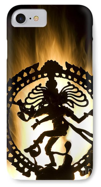 Flaming Natarja IPhone Case by Tim Gainey