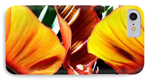 IPhone Case featuring the photograph Flaming Plant by Kristine Merc
