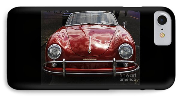 IPhone Case featuring the photograph Flaming Red Porsche by Victoria Harrington