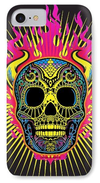Flaming Skull Phone Case by Tony Rubino