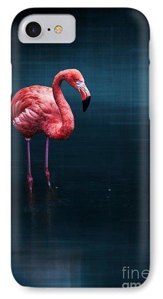 Flamingo - Blue Phone Case by Hannes Cmarits