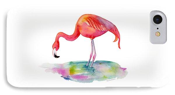 Flamingo Dip IPhone Case by Amy Kirkpatrick