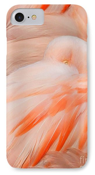 Flamingo Eye IPhone Case by Clare VanderVeen