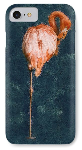 Flamingo - Happened At The Zoo Phone Case by Jack Zulli