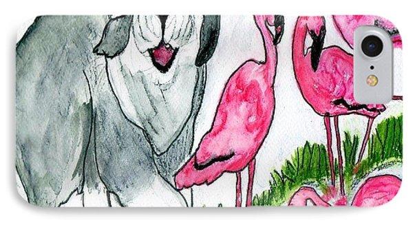 Flamingo Herder IPhone Case