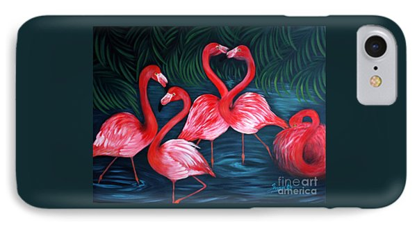 Flamingo Love. Inspirations Collection. Special Greeting Card IPhone Case