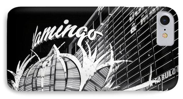 Flamingo Night View Phone Case by John Rizzuto