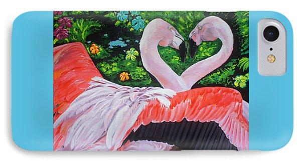 Flamingo Paradise Phone Case by Chikako Hashimoto Lichnowsky
