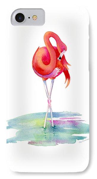 Flamingo Primp IPhone Case by Amy Kirkpatrick