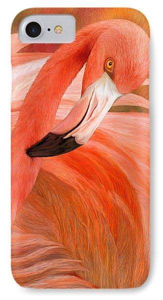 Flamingo - Spirit Of Balance IPhone Case by Carol Cavalaris