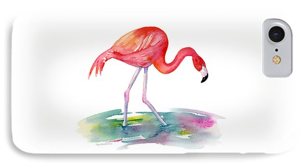Flamingo Step IPhone Case by Amy Kirkpatrick