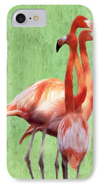 Flamingo Twist Phone Case by Jeffrey Kolker