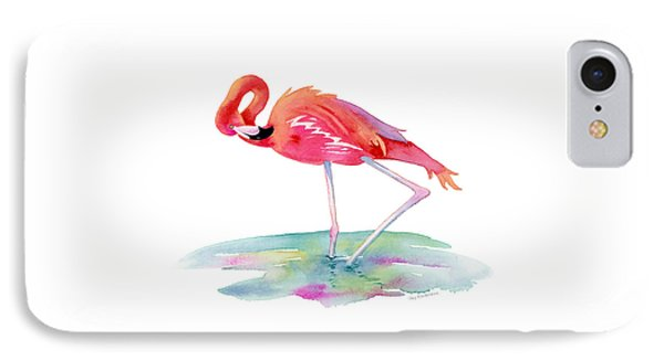 Flamingo View IPhone Case by Amy Kirkpatrick