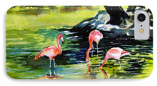 Flamingos At The St Louis Zoo Phone Case by Spencer Meagher