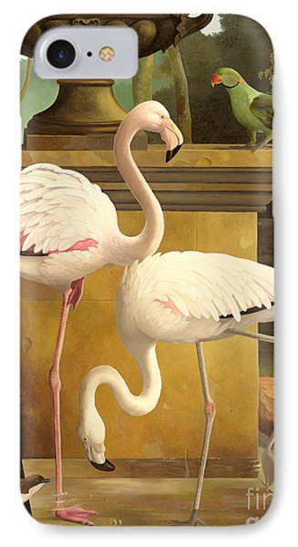 Parakeet iPhone 7 Case - Flamingos by Lizzie Riches