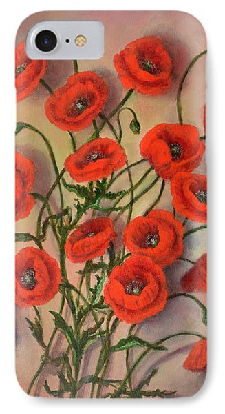 Flander's Poppies IPhone Case by Randy Burns
