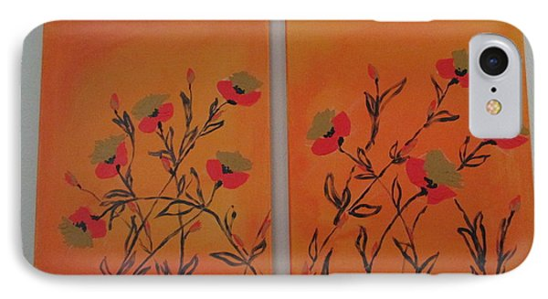 IPhone Case featuring the painting Flanders Poppies by Sharyn Winters