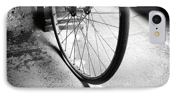 IPhone Case featuring the photograph Flat Bicycle Tire by Dave Beckerman