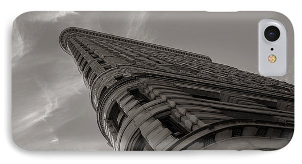 Flat Iron Building IPhone Case by Angela DeFrias