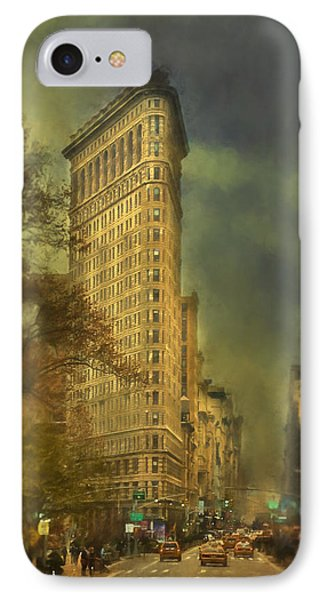 Flat Iron Building IPhone Case by Kathy Jennings