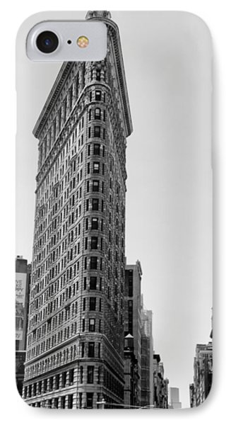 Flat Iron In Black And White IPhone Case by Bill Cannon