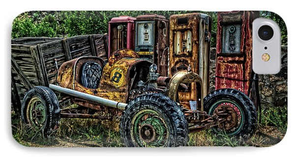 IPhone Case featuring the photograph Flathead Ford Racer by Ken Smith