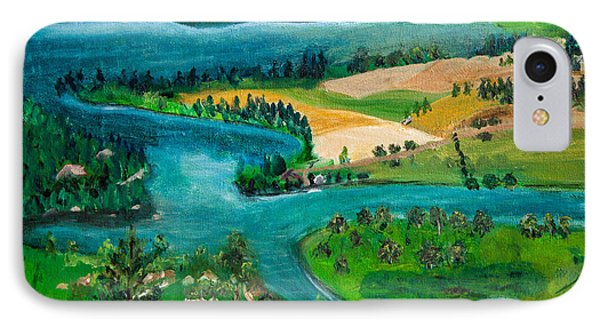 View Of Flathead River And Lake IPhone Case