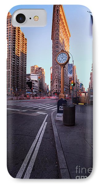 Flatiron Area In Motion IPhone Case by John Farnan