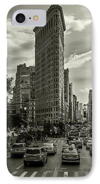 Flatiron Building - Black And White IPhone Case