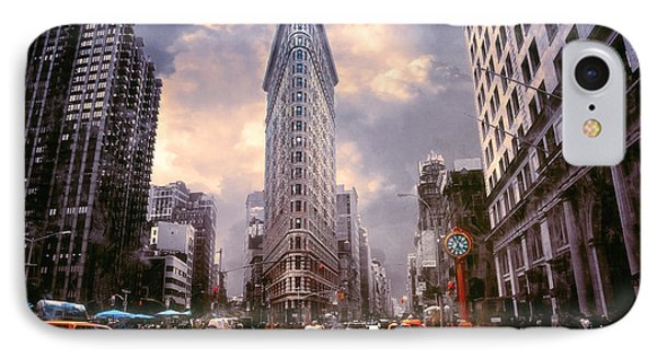 Flatiron Building IPhone Case by John Rivera