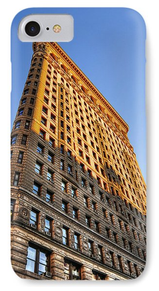 Flatiron Building Profile Too Phone Case by Randy Aveille