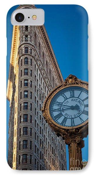 Flatiron Clock Phone Case by Inge Johnsson