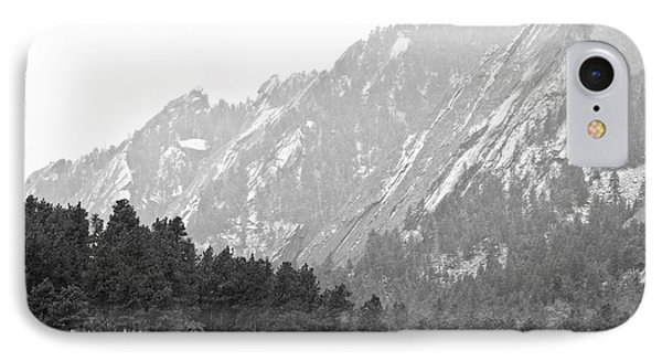 Flatiron In Black And White Boulder Colorado Phone Case by James BO  Insogna