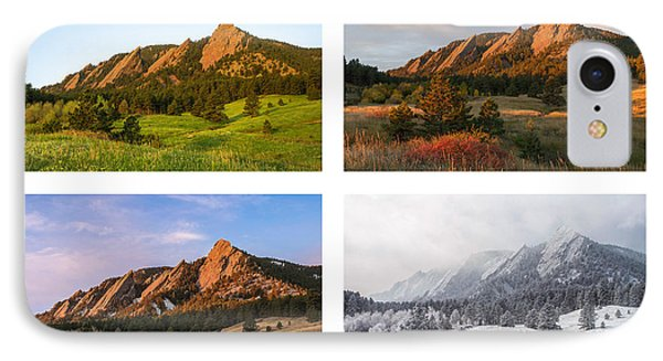 Flatirons Four Seasons With Border IPhone 7 Case