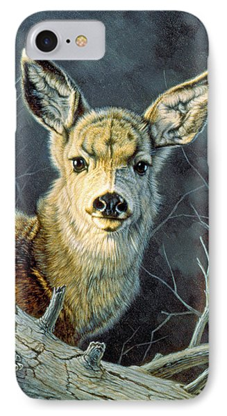 Fleeting Visit- Fawn IPhone Case