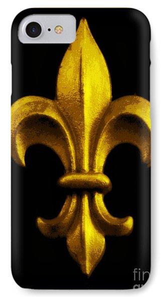Fleur De Lis In Black And Gold Phone Case by Carol Groenen